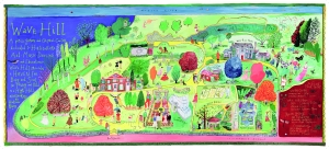 """Look for the copper beech in the lower left foreground of this snapshot of Maira Kalman's whimsical """"map""""."""